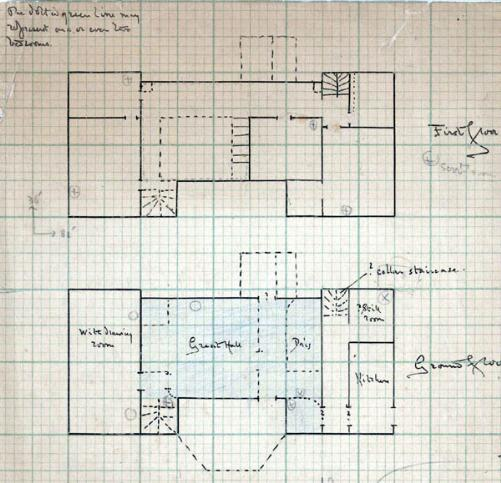AD3354-2 floor plan of the Old House by G.H.Fowler 1906