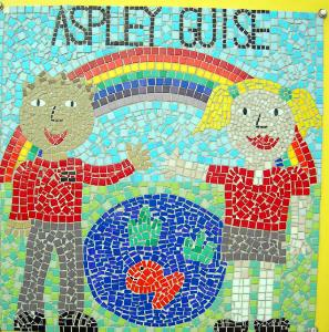 mosaic on the wall of Aspley Guise Lower School September 2007
