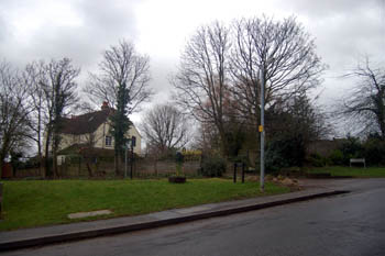 Berry Lane Corner - site of The Pound January 2008