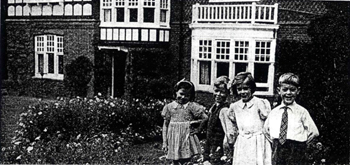 Two sets of twins at Radlett House about 1945