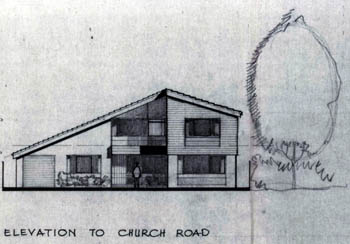 Elevation of new Church Road Vicarage