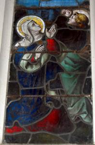 Mary and John on chancel east window January 2008
