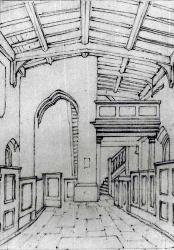 Church interior about 1820