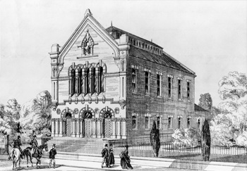 Cauldwell Street Baptist Church in 1862