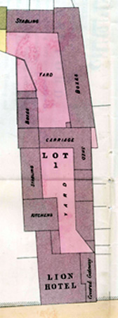 Plan of the Lion Hotel in 1876 GA2178