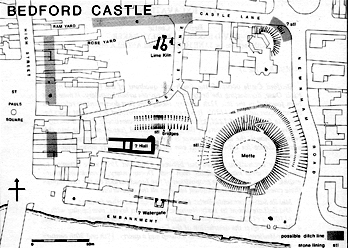 Plan showing the extent of Bedford Castle