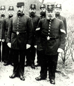 Sergeant Matthew Pedley with other members of the Borough force about 1875