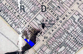 The Black Diamond shown in Blue on this map of 1901