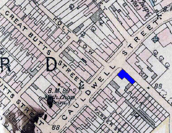 The Haycock shown in blue on this map of 1901