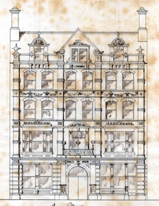 The Lion Hotel elevation - 1879