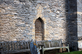 Blocked doorway in the south wall of the tower March 2012