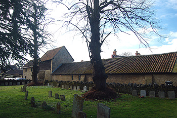 Church Farm seen from the churchyard March 2012