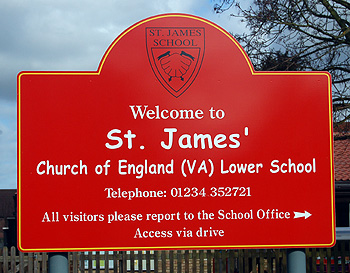 Saint James' Lower School sign March 2012