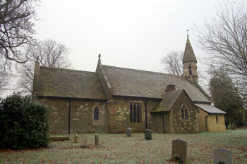 Billington church from the north December 2008