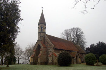 Billington church from the south-west December 2008