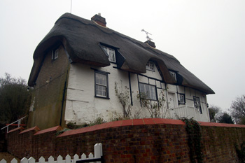 The Thatched Cottage from beneath December 2008
