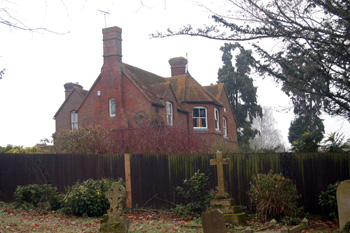 The old Vicarage from the south December 2008