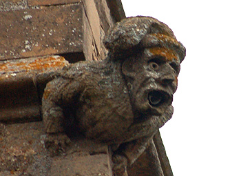 Gargoyle on the south-east corner of the tower October 2009