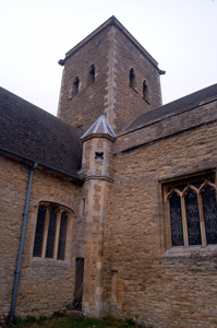 The angle of the south transept and the chancel October 2009
