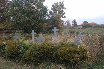 The graves of the 16th Baron and other members of the family October 2009