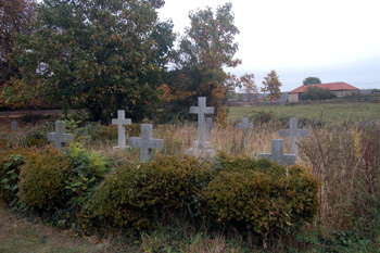 The Saint John burial plot in the churchyard October 2009