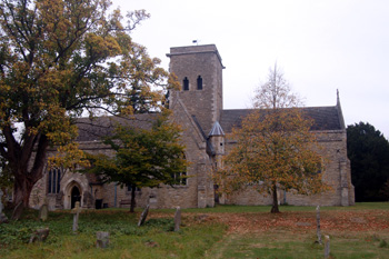 The church from the south October 2009