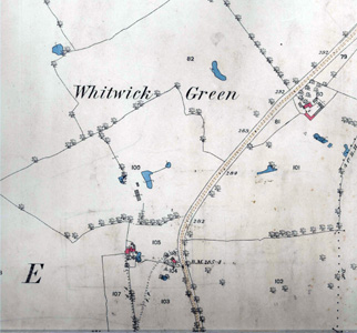 Whitwick Green shown in 1884