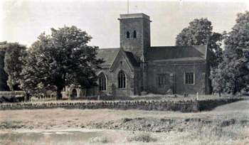 Bletsoe church from the south about 1900 [Z1130/18/1]