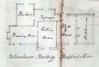 Blunham Rectory in 1798 [P76/2/4/12]