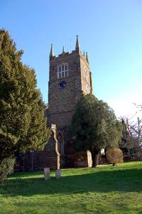 The west tower of Blunham church in March 2007
