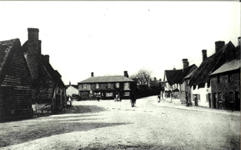 Looking from outside The Salutation towards The Hill and Park Lane junction about 1900 [Z50/19/10]