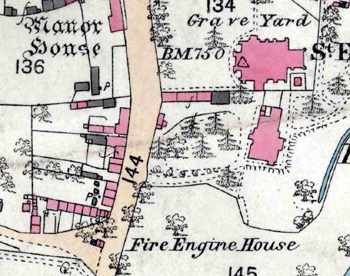 The Fire Engine House on a map of 1884