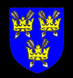 The coat of arms of Saint Edmund's Abbey