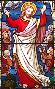The figure of Christ from the east window August 2009