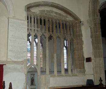 The screen between the Lady Chapel and the chancel August 2009
