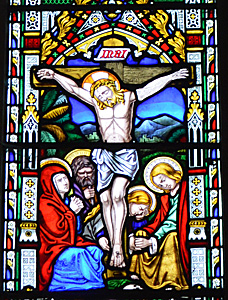Crucifixion from the east window October 2016