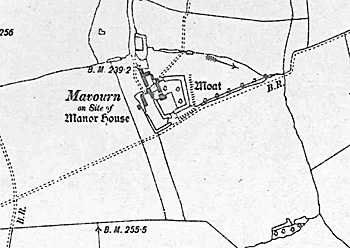 Mavourn Farm on  a map of 1902