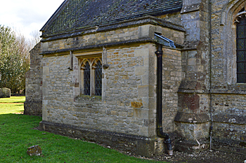The exterior of the vestry February 2016