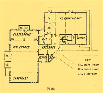 1983 plan of the church buildings [P146-28-4]