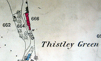 1 to 9 Thistley Lane on a map of 1883