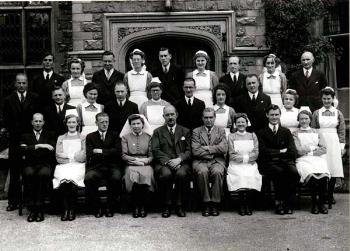 Bromham Hospital staff in 1948