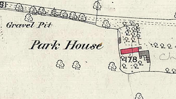 Park House on a map of 1884