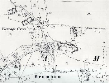 The area around Vicarage Green in 1901
