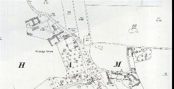 The area around Vicarage Green in 1926