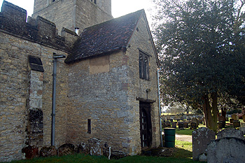 The north porch of Bromham church March 2012