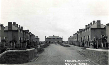 Broom Council Houses about 1950