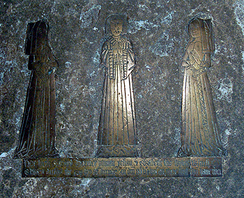 Brasses of Edward Dormer and his wives Johann and Elizabeth June 2012