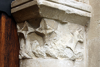 Capital on the east side of the south door March 2012