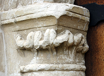 Capital on the west side of the south door March 2012