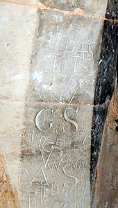 Graffiti in the tower June 2012